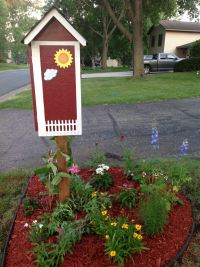 Side View of Little Free Library