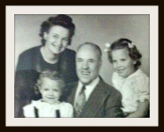 Grandma and Grandpa with Mom and Aunt Marlene 2